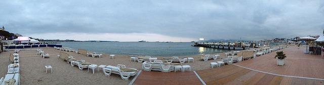 panoramatický pohled na pláž